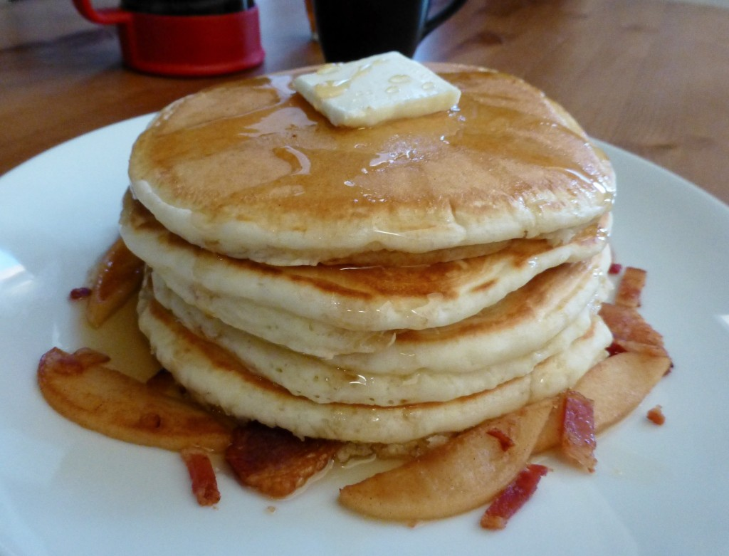 Apple Bacon Pancakes - 3