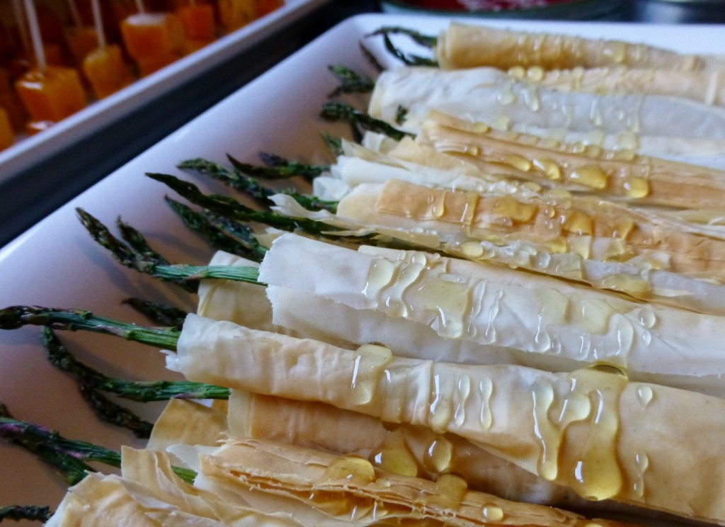 Asparagus in Phyllo Dough - 1