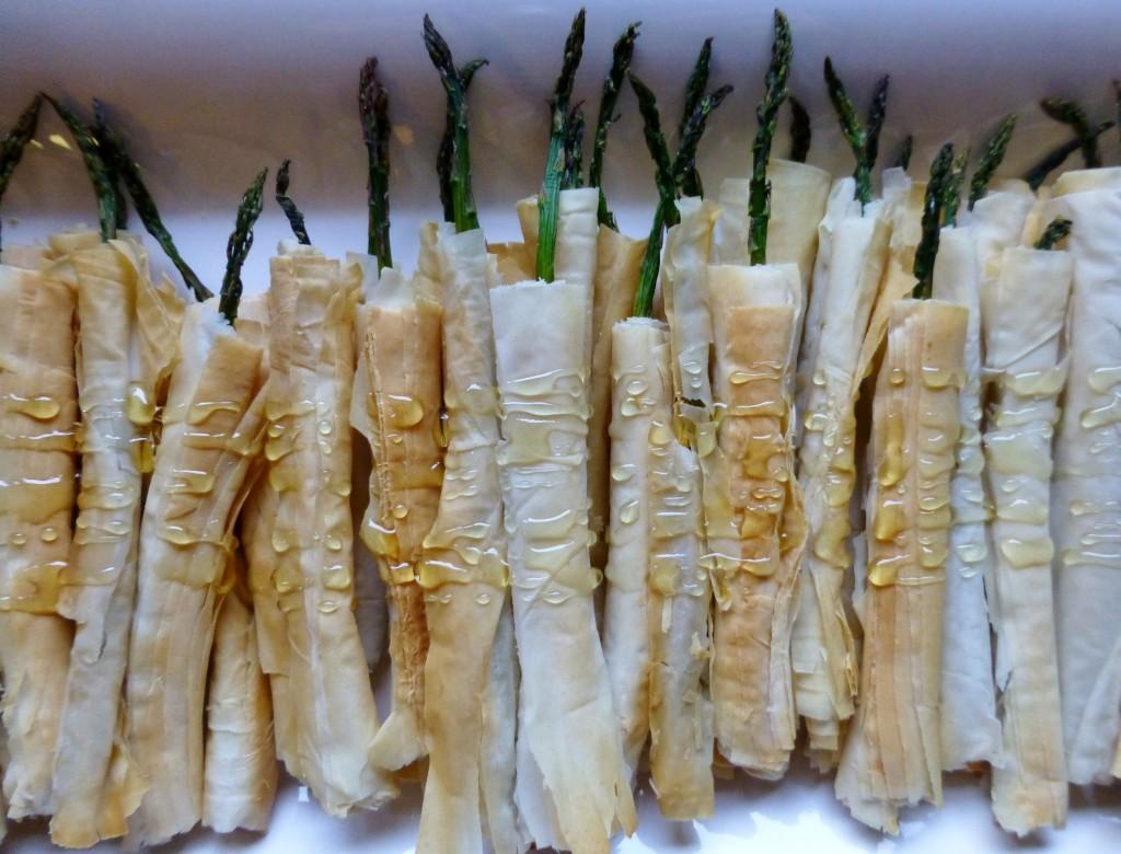 Asparagus in Phyllo Dough - 3