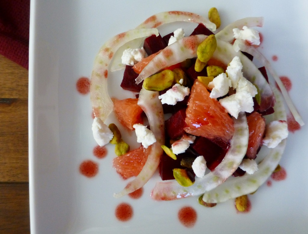 grapefruit beet and fennel salad