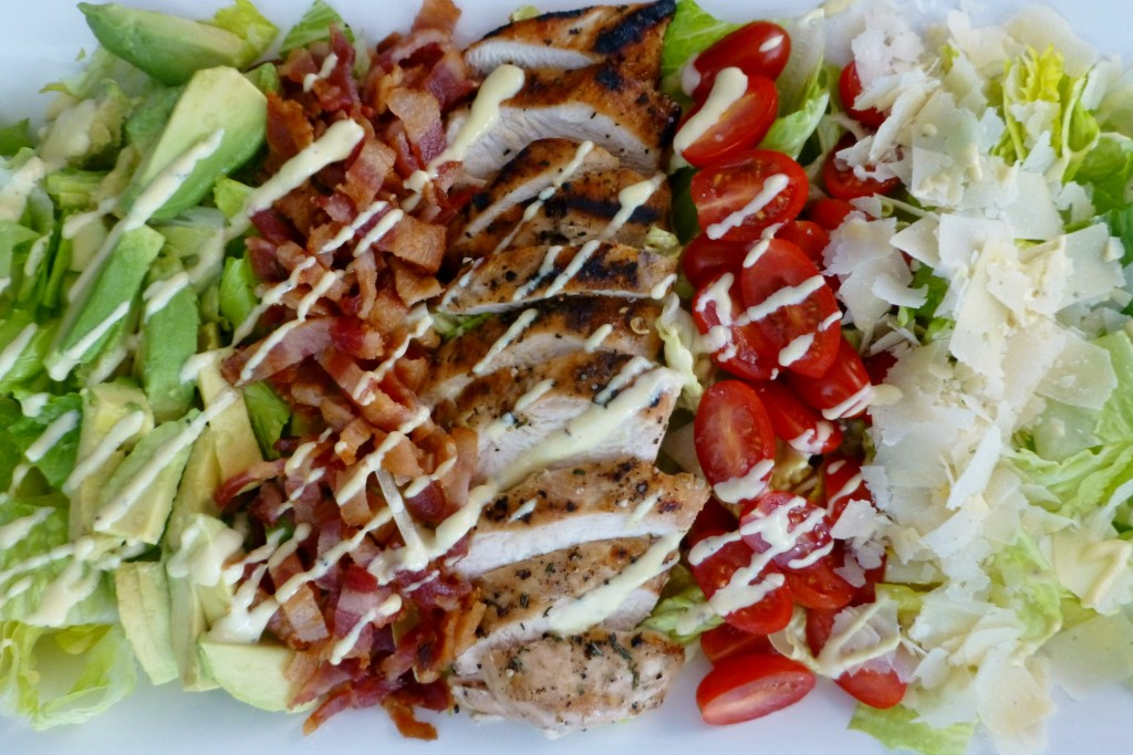 chicken blt salad poulet