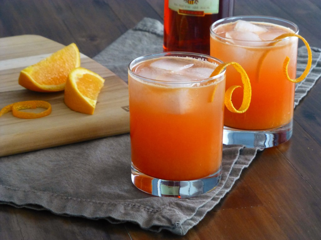 orange vespa campari cocktail