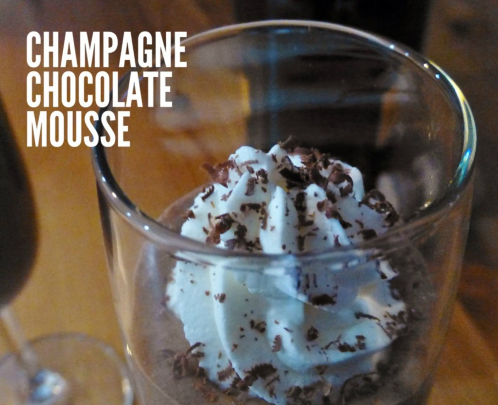 champagne chocolate mousse