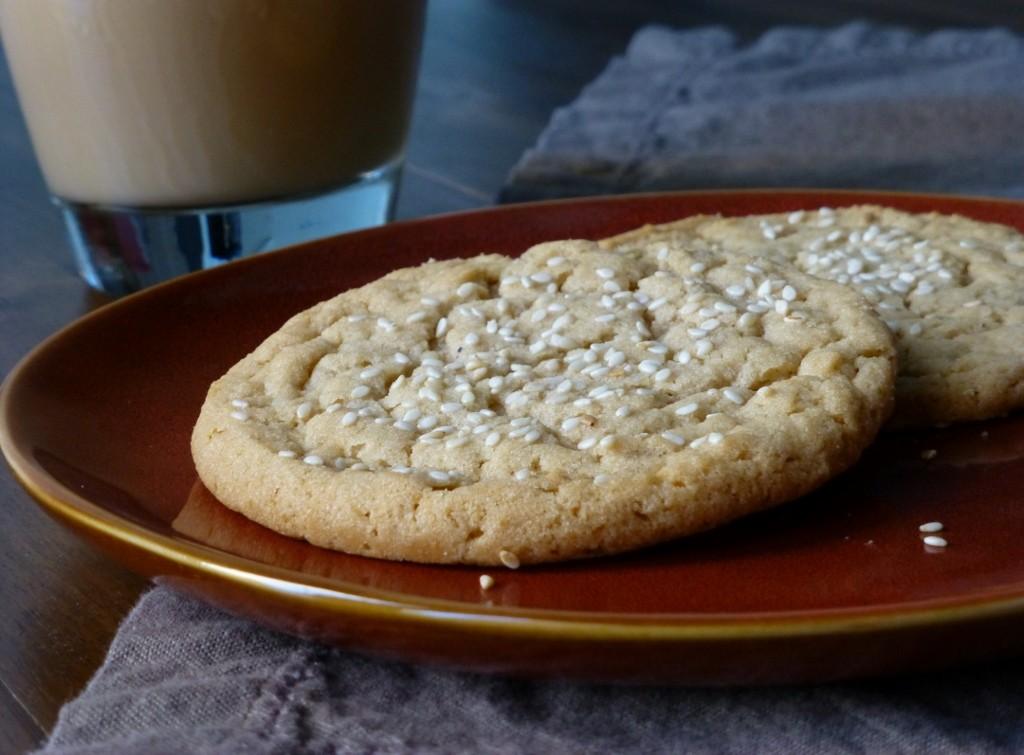 Sesame Butter Cookies - 2 (1024x755)